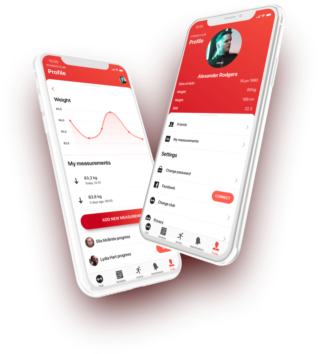 eFitness mobile app