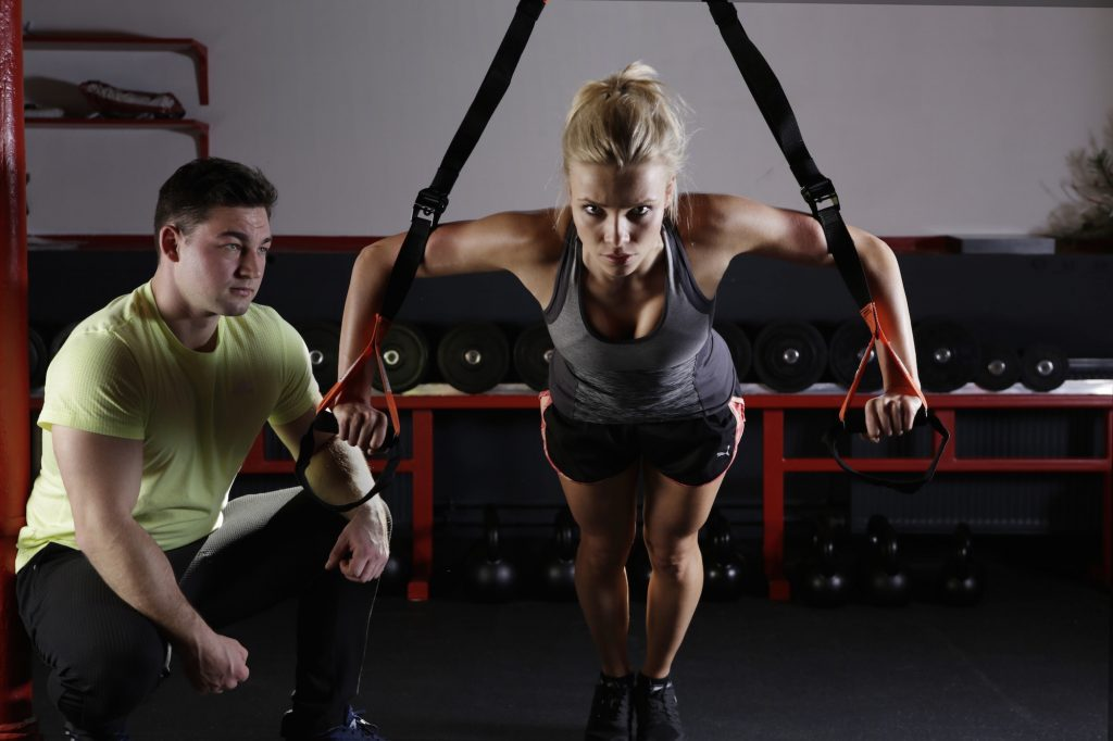 TRX, trainer, workout, personal trainer, small group pt