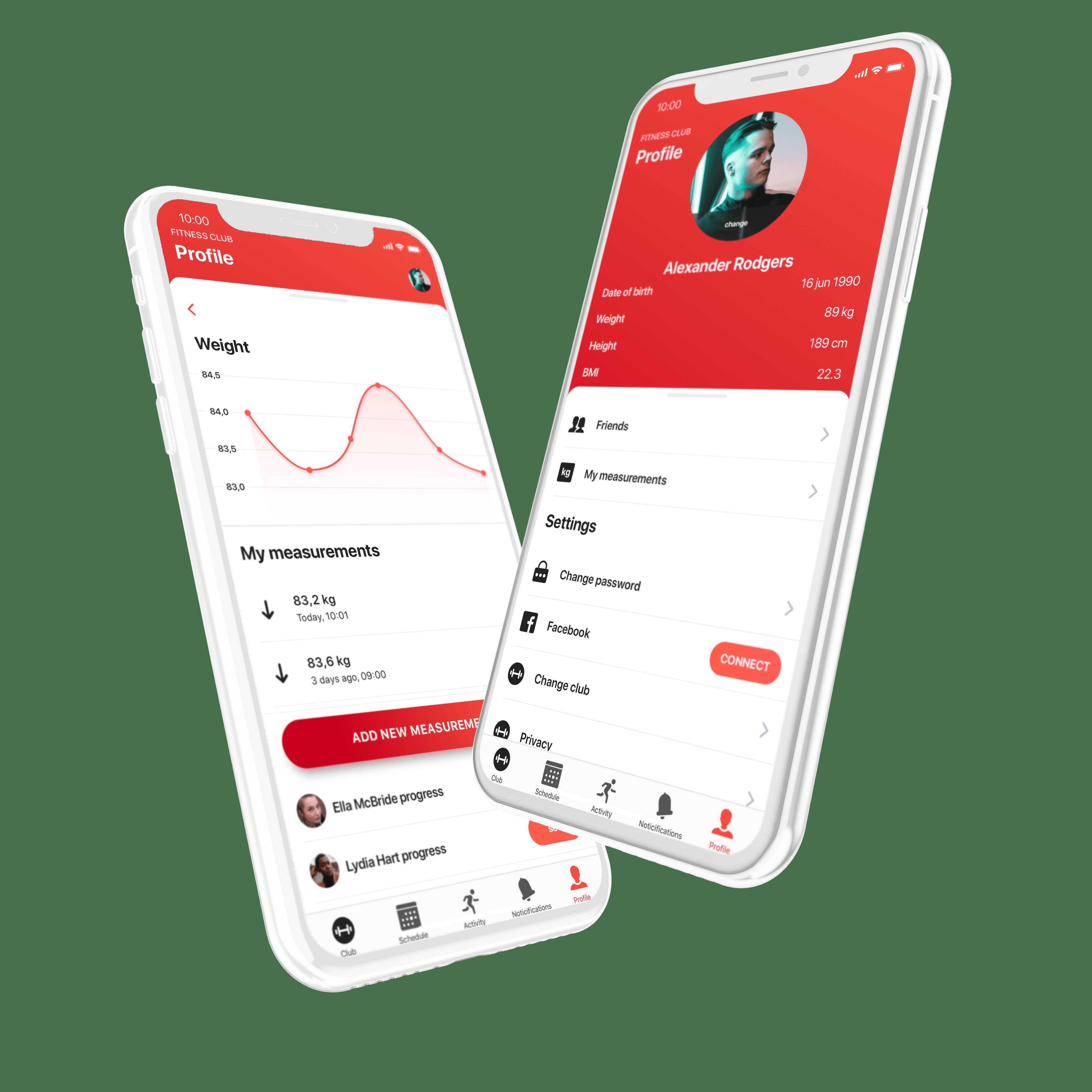 eFitness mobile app